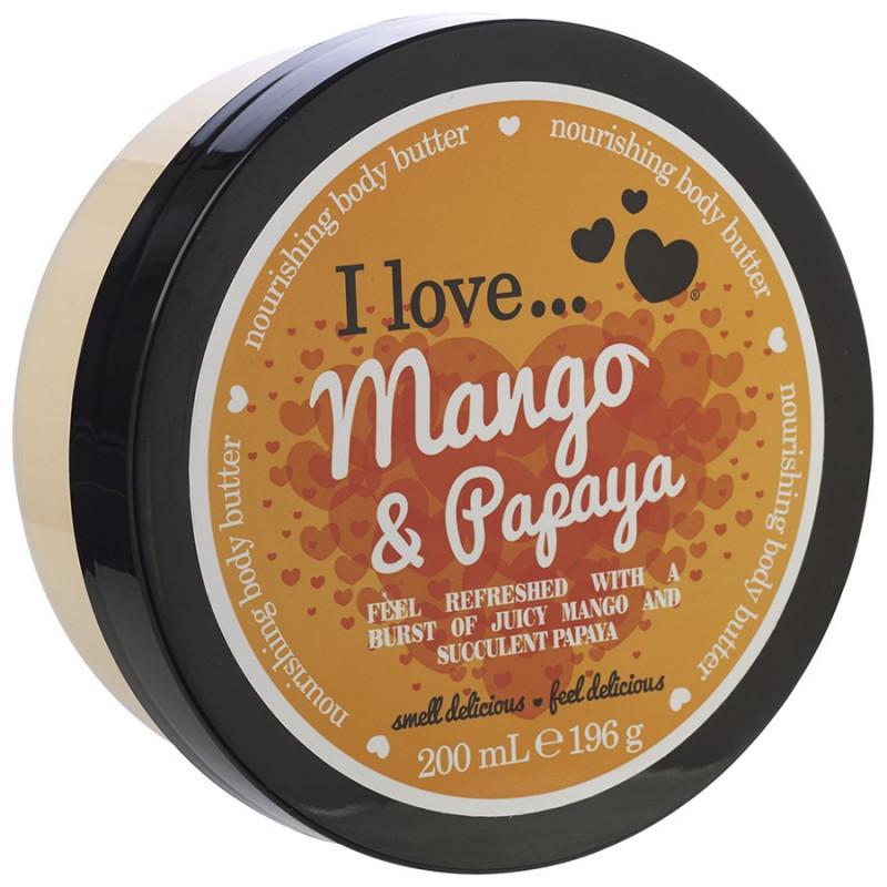 I Love Výživné Tělové Máslo 200ml, ILNBB200 I Love Body Butter Mango Papaya 200ml
