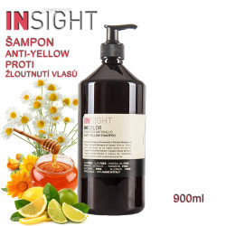 Insight Anti-Yellow šampon proti žloutnutí vlasů 900ml