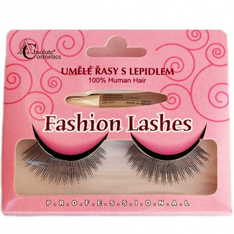 Absolute Cosmetics Fake Eyelashes with Glue, 14112/507, black