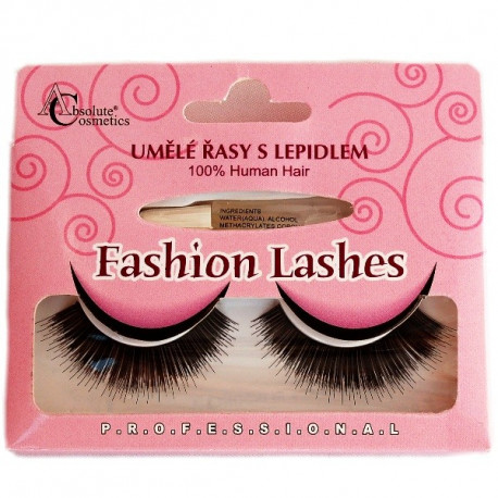 Absolute Cosmetics Fake Eyelashes with Glue, 14112/76, black