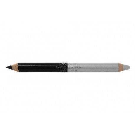BE2137-1 Double Ended Pencil - black white